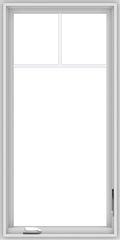 WDMA 24x48 (23.5 x 47.5 inch) White Vinyl uPVC Crank out Casement Window with Fractional Grilles