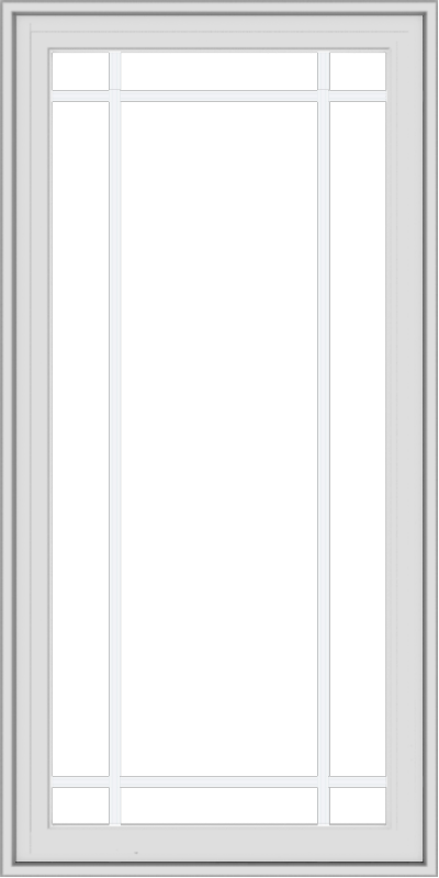 WDMA 24x48 (23.5 x 47.5 inch) White Vinyl uPVC Crank out Casement Window with Prairie Grilles
