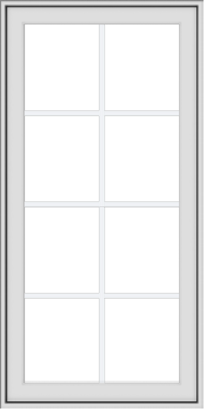 WDMA 24x48 (23.5 x 47.5 inch) White uPVC Vinyl Push out Awning Window with Colonial Grids Exterior