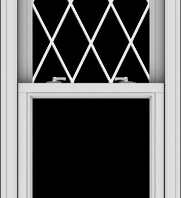 WDMA 24x54 (23.5 x 53.5 inch)  Aluminum Single Double Hung Window with Diamond Grids