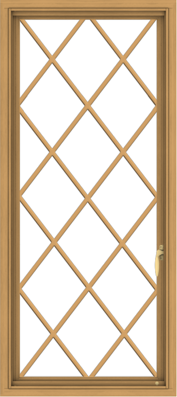 WDMA 24x54 (23.5 x 53.5 inch) Pine Wood Light Grey Aluminum push out Casement Window without Grids with Diamond Grills