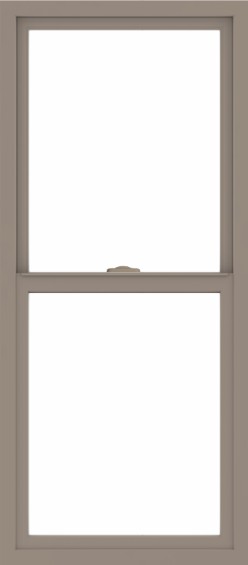 WDMA 24x54 (23.5 x 53.5 inch) Vinyl uPVC Brown Single Hung Double Hung Window without Grids Interior