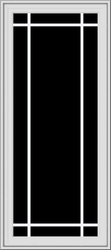 WDMA 24x54 (23.5 x 53.5 inch) White Vinyl uPVC Crank out Casement Window with Prairie Grilles