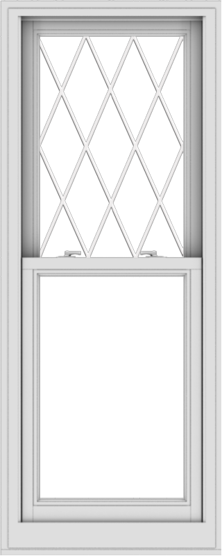 WDMA 24x60 (23.5 x 59.5 inch)  Aluminum Single Double Hung Window with Diamond Grids