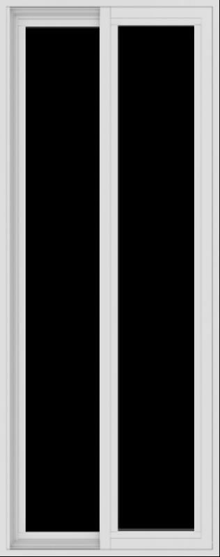 WDMA 24x60 (23.5 x 59.5 inch) Vinyl uPVC White Slide Window without Grids Exterior