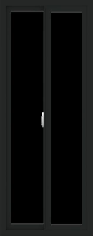 WDMA 24x60 (23.5 x 59.5 inch) Vinyl uPVC Black Slide Window without Grids Interior