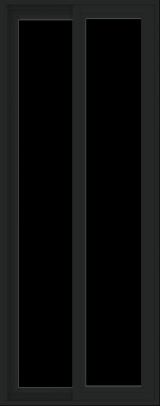 WDMA 24x60 (23.5 x 59.5 inch) Vinyl uPVC Black Slide Window without Grids Exterior