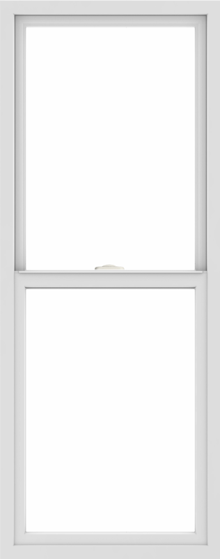 WDMA 24x60 (23.5 x 59.5 inch) Vinyl uPVC White Single Hung Double Hung Window without Grids Interior
