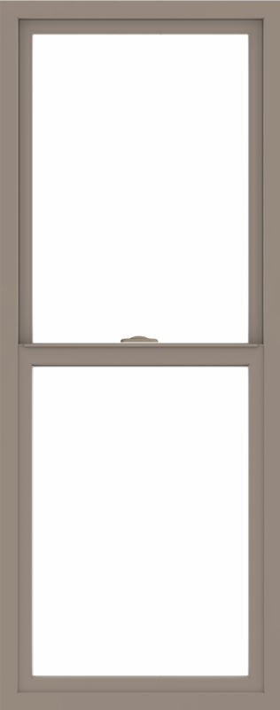 WDMA 24x60 (23.5 x 59.5 inch) Vinyl uPVC Brown Single Hung Double Hung Window without Grids Interior