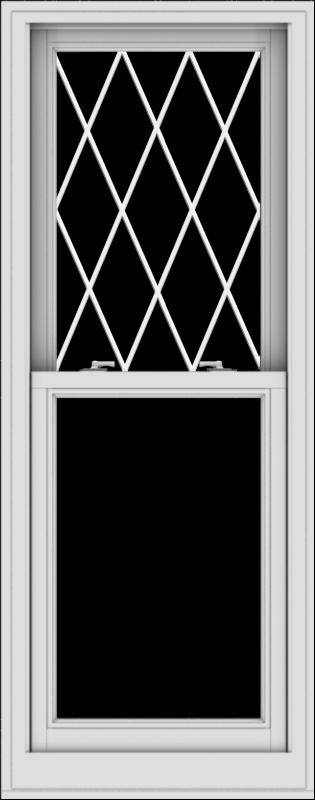 WDMA 24x61 (23.5 x 60.5 inch)  Aluminum Single Double Hung Window with Diamond Grids