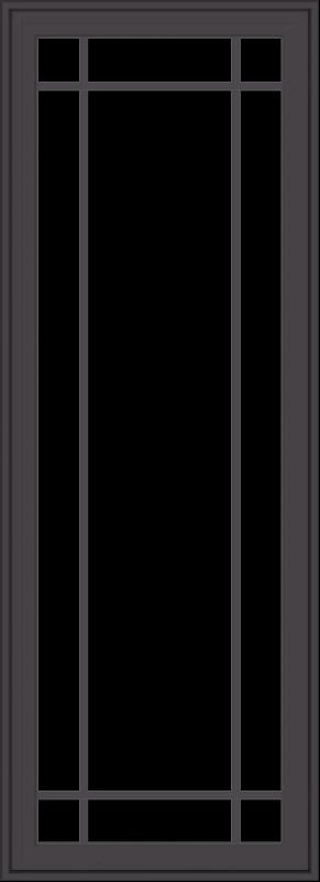 WDMA 24x66 (23.5 x 65.5 inch) Pine Wood Dark Grey Aluminum Crank out Casement Window with Prairie Grilles