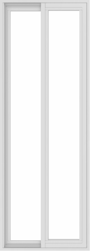 WDMA 24x66 (23.5 x 65.5 inch) Vinyl uPVC White Slide Window without Grids Exterior