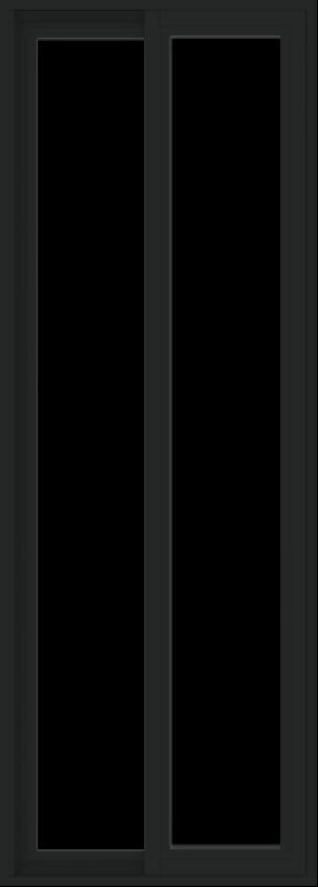 WDMA 24x66 (23.5 x 65.5 inch) Vinyl uPVC Black Slide Window without Grids Exterior