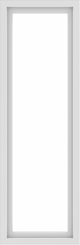 WDMA 24x72 (23.5 x 71.5 inch) Vinyl uPVC White Picture Window without Grids-1