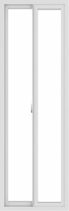 WDMA 24x72 (23.5 x 71.5 inch) Vinyl uPVC White Slide Window without Grids Interior