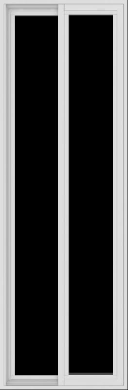 WDMA 24x72 (23.5 x 71.5 inch) Vinyl uPVC White Slide Window without Grids Exterior