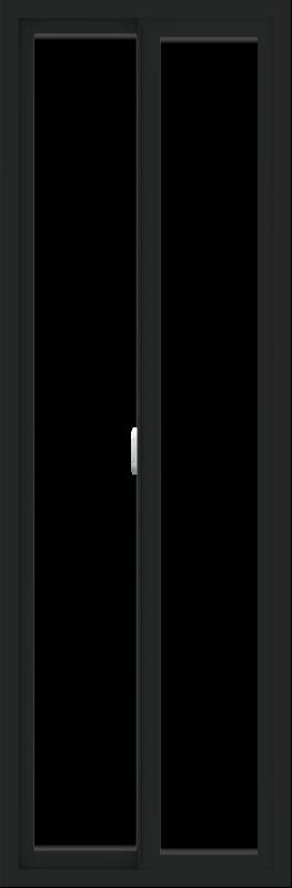 WDMA 24x72 (23.5 x 71.5 inch) Vinyl uPVC Black Slide Window without Grids Interior