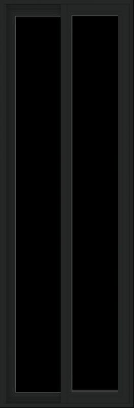 WDMA 24x72 (23.5 x 71.5 inch) Vinyl uPVC Black Slide Window without Grids Exterior