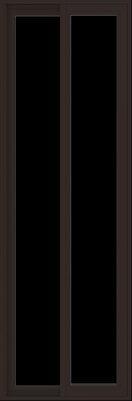 WDMA 24x72 (23.5 x 71.5 inch) Vinyl uPVC Dark Brown Slide Window without Grids Exterior