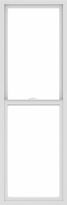 WDMA 24x72 (23.5 x 71.5 inch) Vinyl uPVC White Single Hung Double Hung Window without Grids Interior