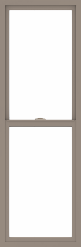 WDMA 24x72 (23.5 x 71.5 inch) Vinyl uPVC Brown Single Hung Double Hung Window without Grids Interior