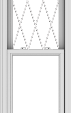 WDMA 24x78 (23.5 x 77.5 inch)  Aluminum Single Double Hung Window with Diamond Grids