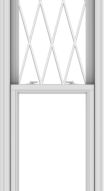 WDMA 24x90 (23.5 x 89.5 inch)  Aluminum Single Double Hung Window with Diamond Grids