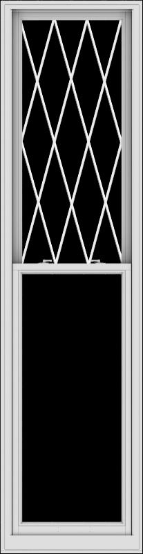 WDMA 28x108 (27.5 x 107.5 inch)  Aluminum Single Double Hung Window with Diamond Grids