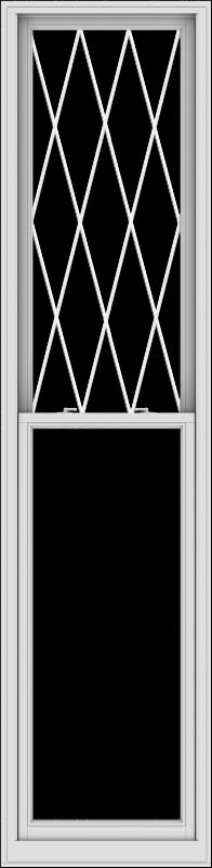 WDMA 28x114 (27.5 x 113.5 inch)  Aluminum Single Double Hung Window with Diamond Grids