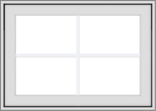 WDMA 28x20 (27.5 x 19.5 inch) White Vinyl uPVC Crank out Awning Window with Colonial Grids Exterior