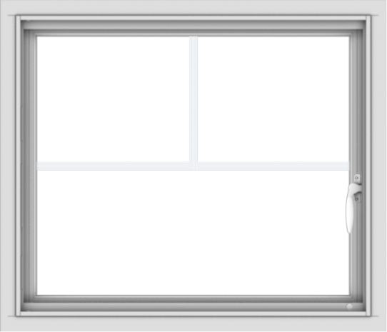 WDMA 28x24 (27.5 x 23.5 inch) Vinyl uPVC White Push out Casement Window with Fractional Grilles