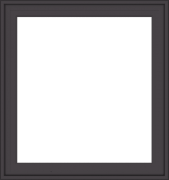 WDMA 28x30 (27.5 x 29.5 inch) Pine Wood Dark Grey Aluminum Crank out Casement Window without Grids Exterior