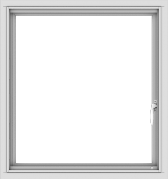 WDMA 28x30 (27.5 x 29.5 inch) Vinyl uPVC White Push out Casement Window without Grids Interior