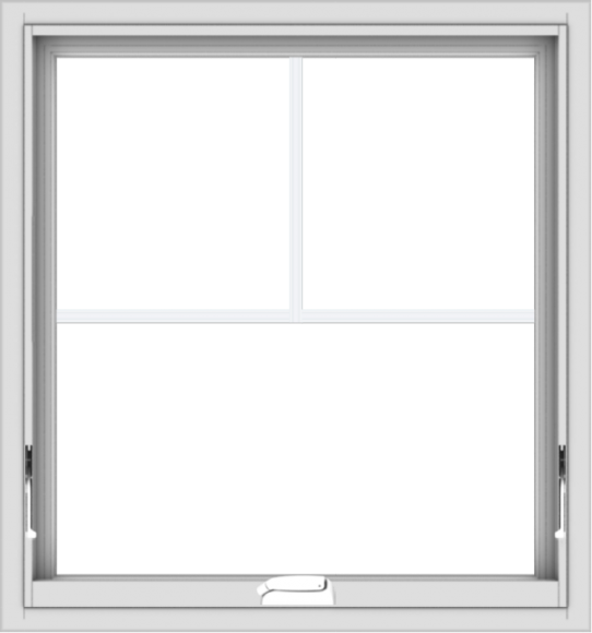 WDMA 28x30 (27.5 x 29.5 inch) White Vinyl uPVC Crank out Awning Window with Fractional Grilles