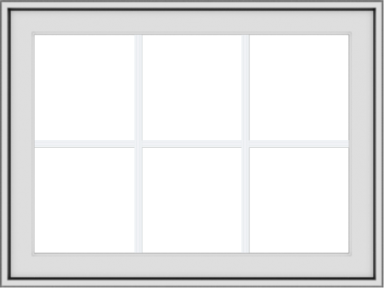WDMA 32x24 (31.5 x 23.5 inch) White uPVC Vinyl Push out Awning Window with Colonial Grids Exterior