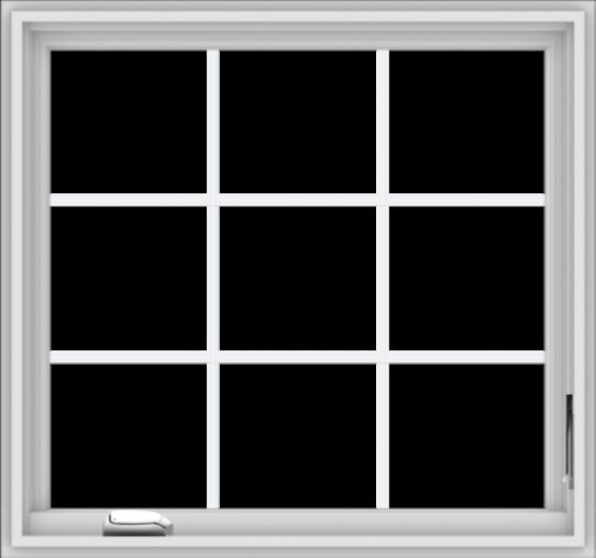 WDMA 32x30 (31.5 x 29.5 inch) White Vinyl UPVC Crank out Casement Window without Grids