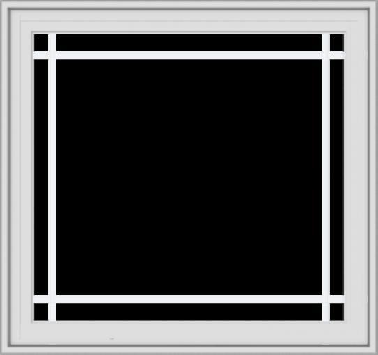 WDMA 32x30 (31.5 x 29.5 inch) White Vinyl UPVC Crank out Casement Window with Prairie Grilles