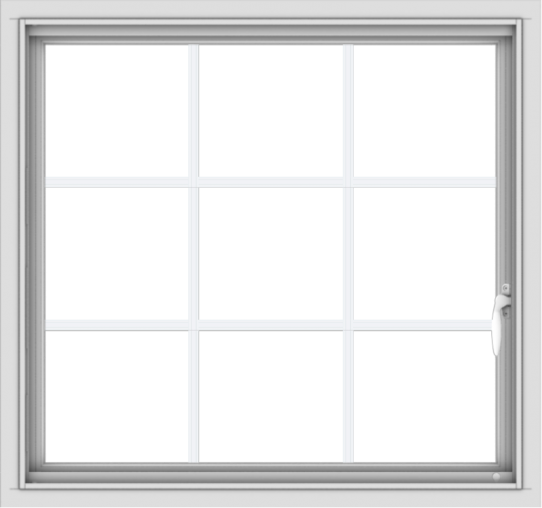 WDMA 32x30 (31.5 x 29.5 inch) White uPVC Vinyl Push out Casement Window without Grids