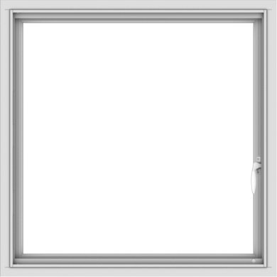 WDMA 32x32 (31.5 x 31.5 inch) White uPVC Vinyl Push out Casement Window with Colonial Grids Interior