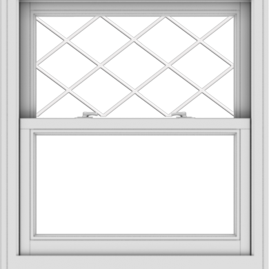 WDMA 32x36 (31.5 x 35.5 inch)  Aluminum Single Double Hung Window with Diamond Grids