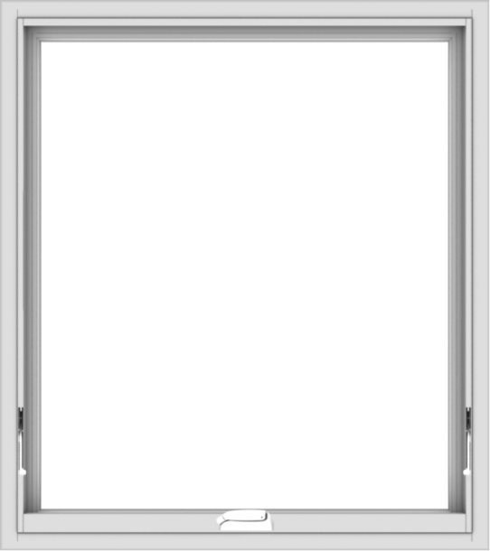 WDMA 32x36 (31.5 x 35.5 inch) White Vinyl uPVC Crank out Awning Window without Grids