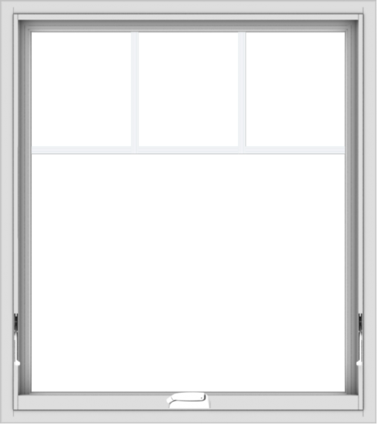 WDMA 32x36 (31.5 x 35.5 inch) White Vinyl uPVC Crank out Awning Window with Fractional Grilles