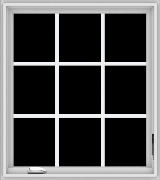 WDMA 32x36 (31.5 x 35.5 inch) White Vinyl UPVC Crank out Casement Window without Grids
