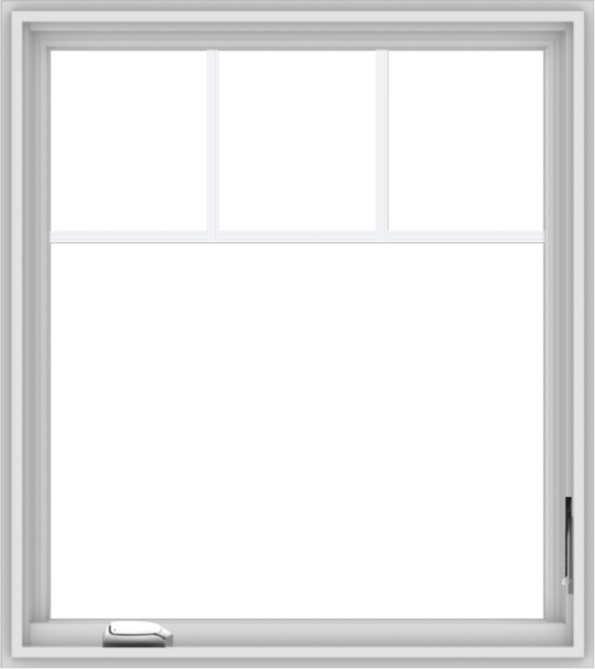 WDMA 32x36 (31.5 x 35.5 inch) White Vinyl UPVC Crank out Casement Window with Fractional Grilles