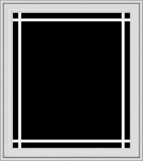 WDMA 32x36 (31.5 x 35.5 inch) White Vinyl UPVC Crank out Casement Window with Prairie Grilles