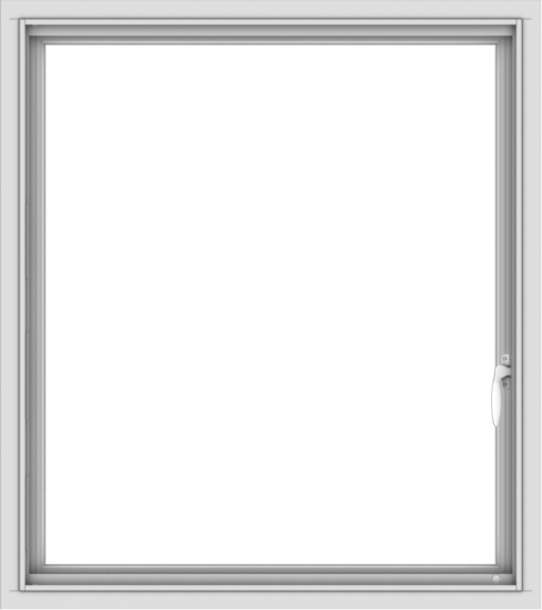 WDMA 32x36 (31.5 x 35.5 inch) White uPVC Vinyl Push out Casement Window with Colonial Grids Interior