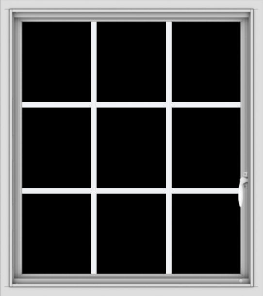 WDMA 32x36 (31.5 x 35.5 inch) White uPVC Vinyl Push out Casement Window without Grids