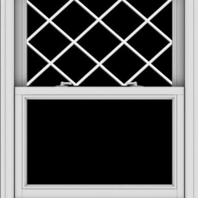 WDMA 32x40 (31.5 x 39.5 inch)  Aluminum Single Double Hung Window with Diamond Grids
