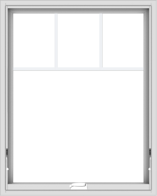 WDMA 32x40 (31.5 x 39.5 inch) White Vinyl uPVC Crank out Awning Window with Fractional Grilles