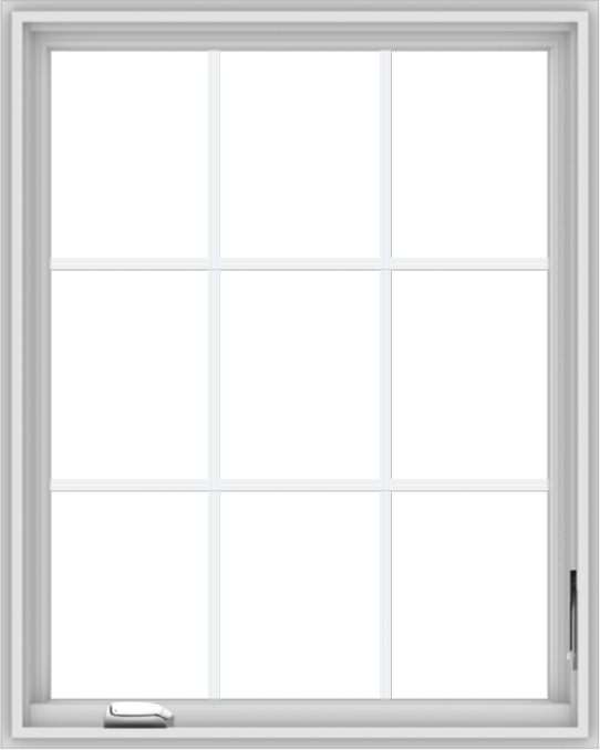 WDMA 32x40 (31.5 x 39.5 inch) White Vinyl UPVC Crank out Casement Window without Grids